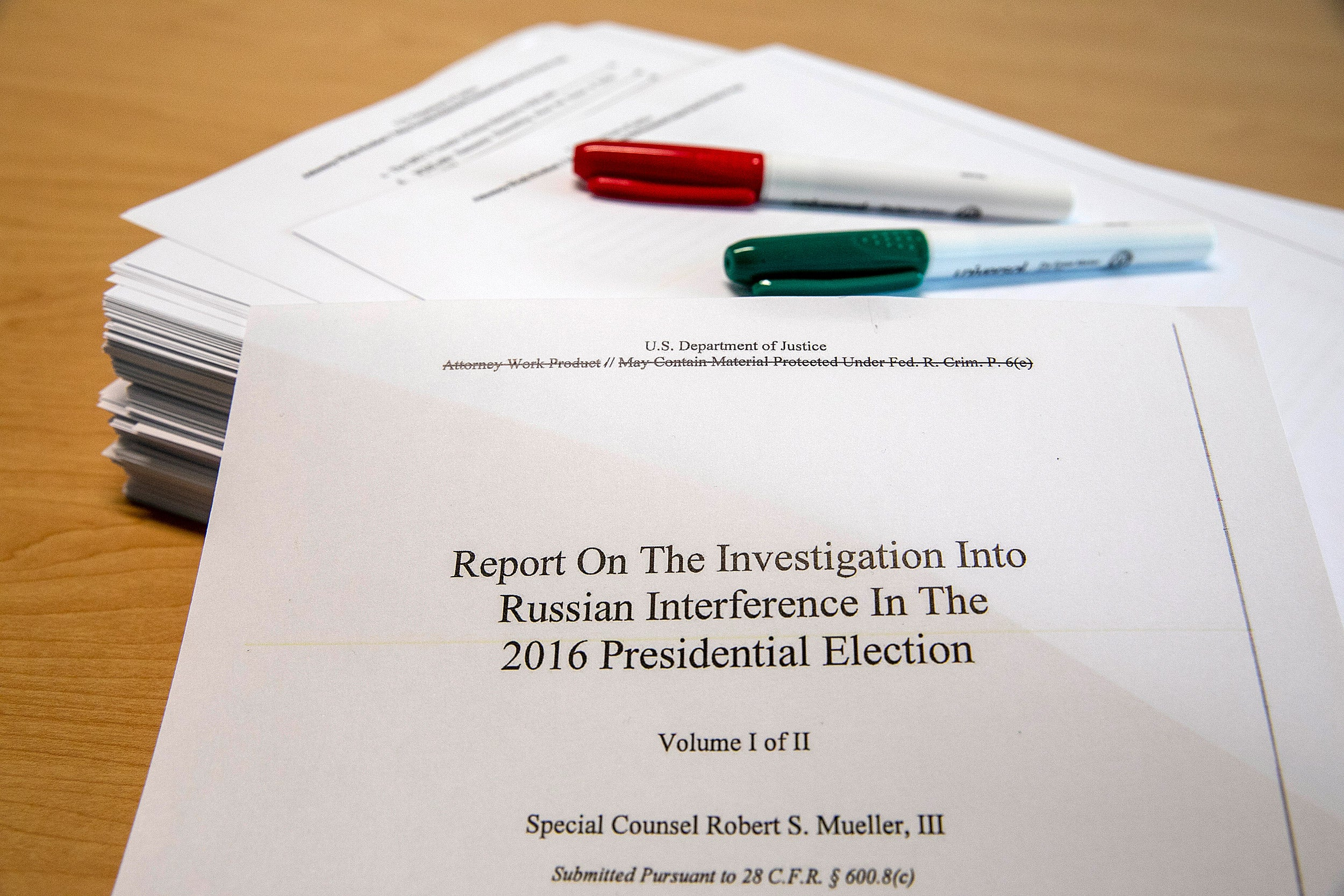 The redacted version of Robert Mueller's investigative report was released on Thursday.
