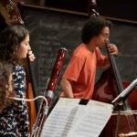 Harvard Pops Orchestra rehearses