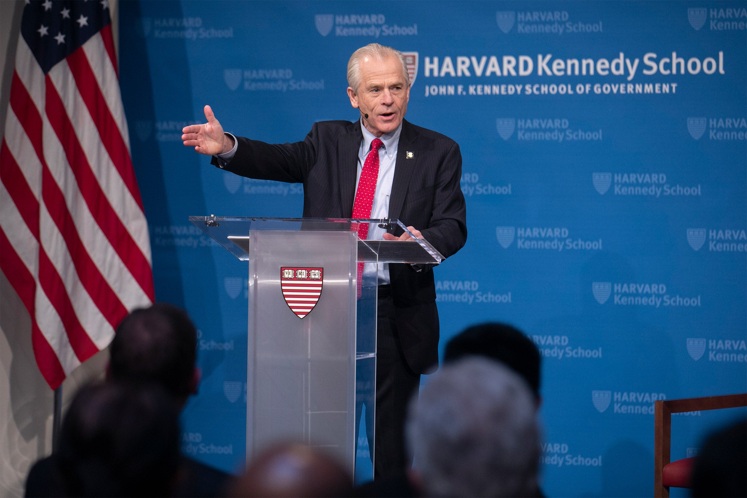 Peter Navarro at the podium