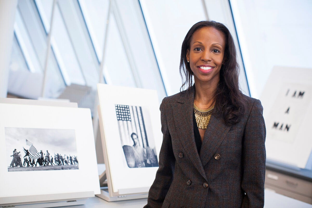 Assistant Professor of History of Art and Architecture and African and African American Studies Sarah Lewis, pictured in Harvard Art Museums, has organized an event to explore the relationship between race and art.