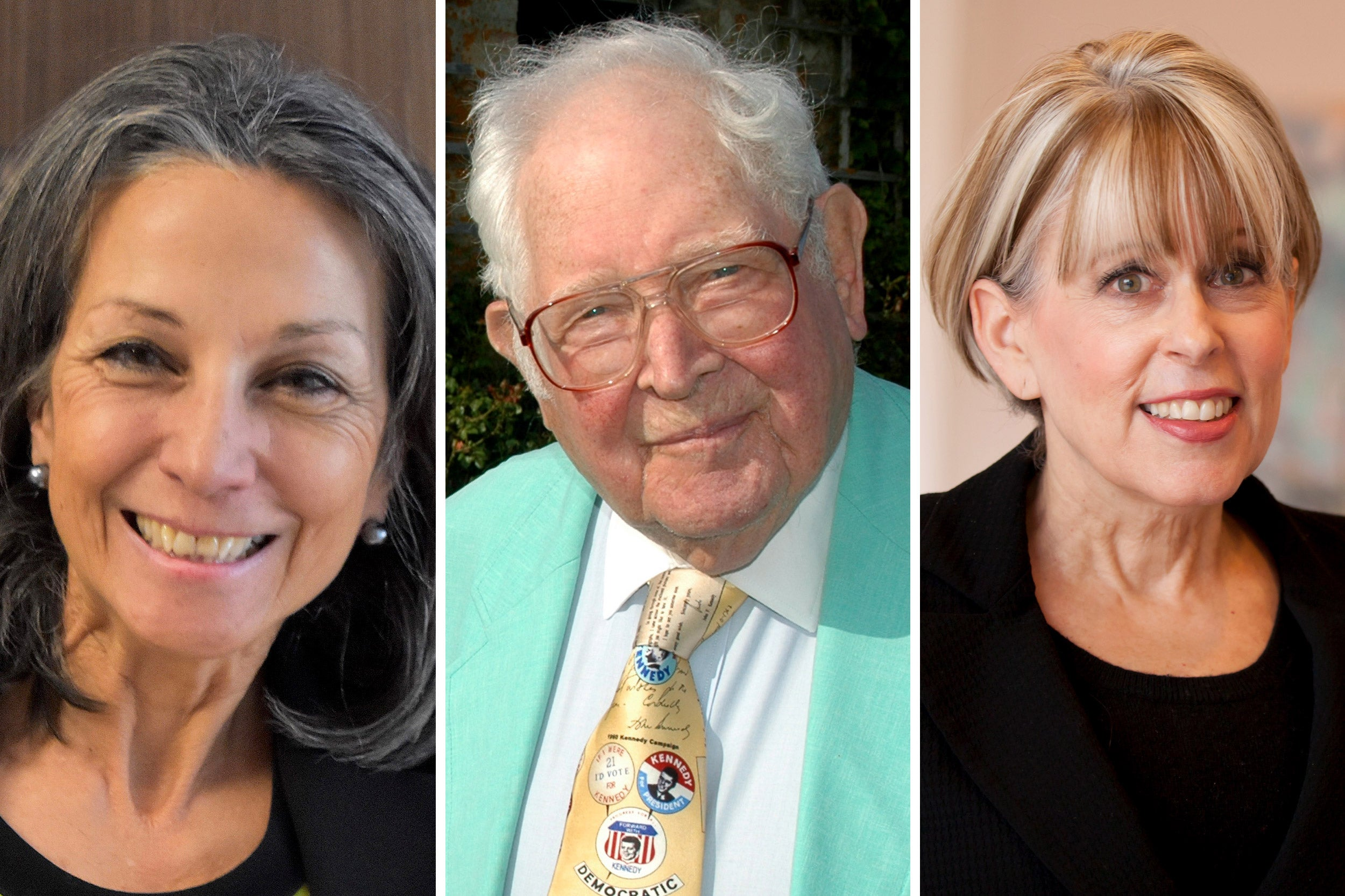 The HAA medalists are Teresita Alvarez-Bjelland '76, M.B.A. '79; Dan H. Fenn Jr. '44, A.M. '72; and Tamara Elliott Rogers '74.
