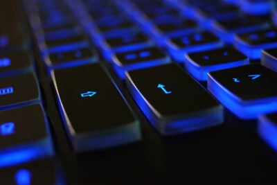 Computer keyboard symbolizing digital access