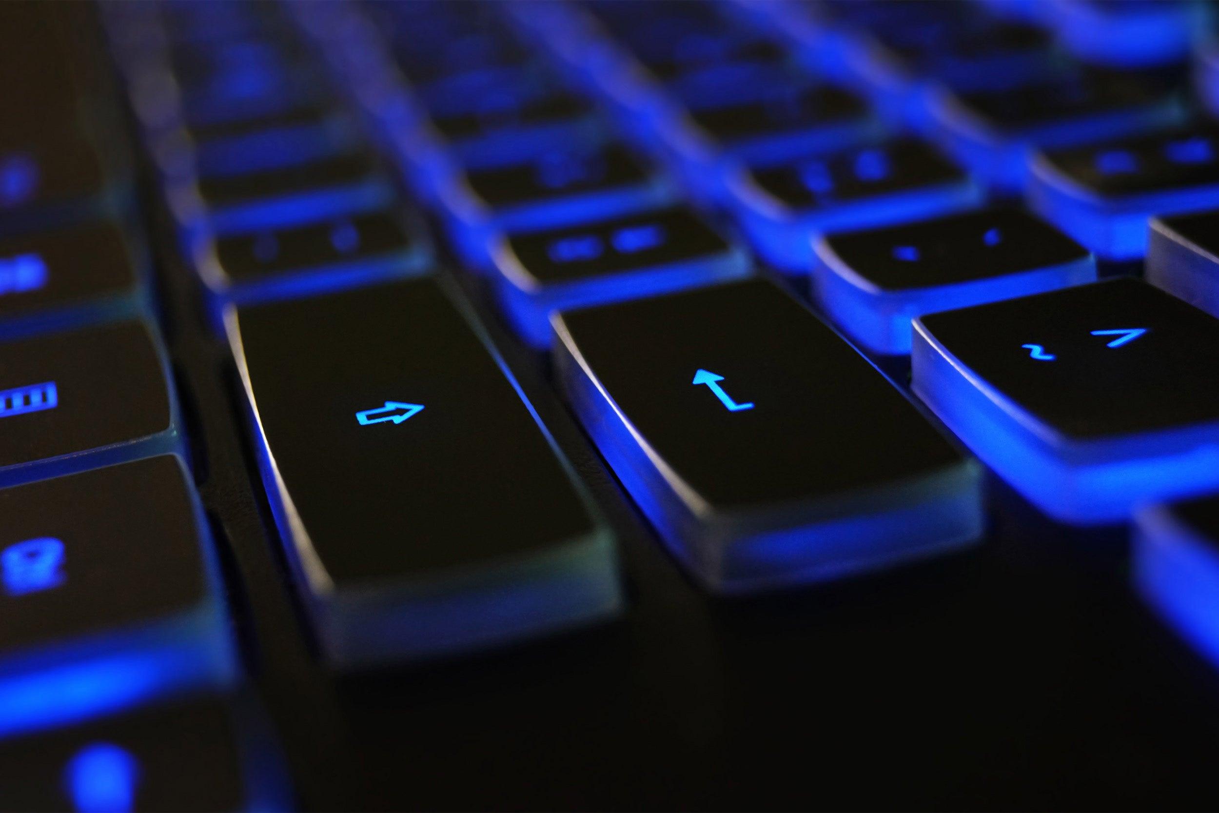 Computer keyboard symbolizing digital access