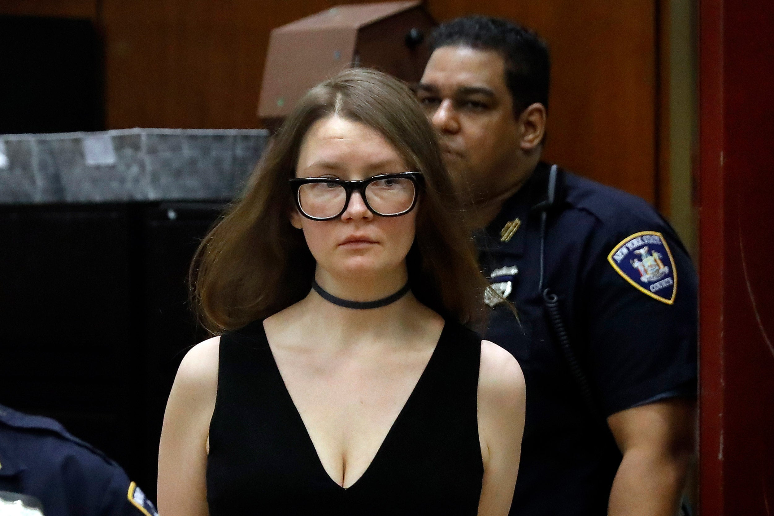 Anna Sorokin in court.