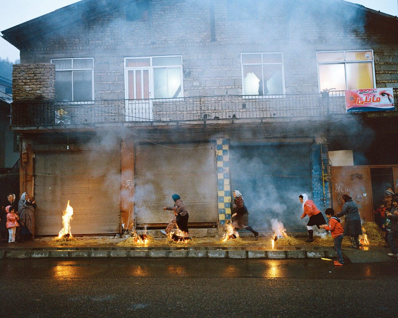 Zoroastrian fire ritual.