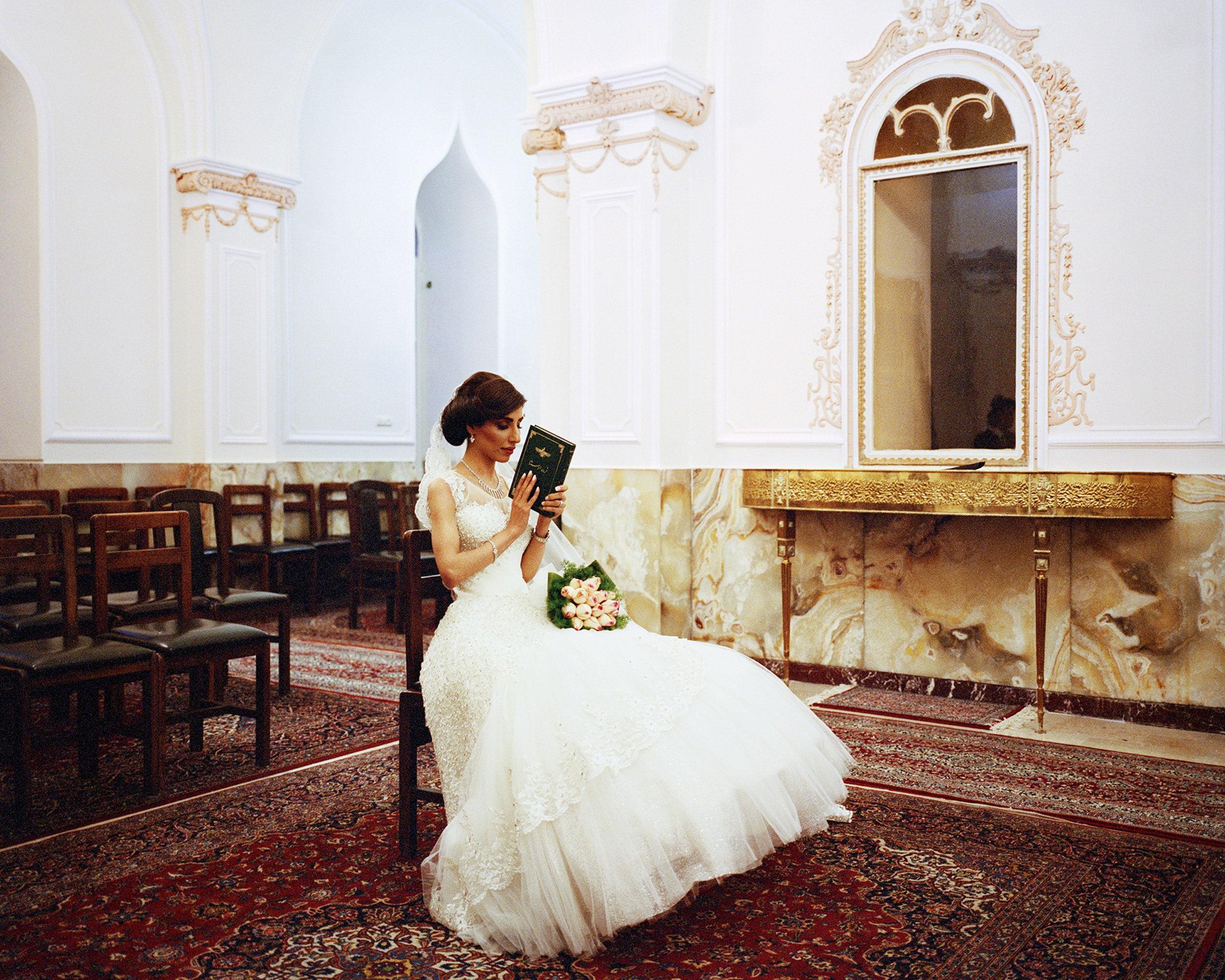 Zoroastrian bride.