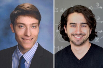 Noah Golowich '19 (left) and Ph.D. candidate Alex Atanasov are selected as this year's Hertz Fellows.