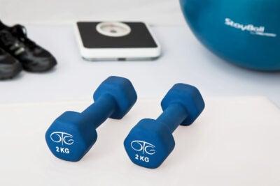 Workout equipment for wellness program.