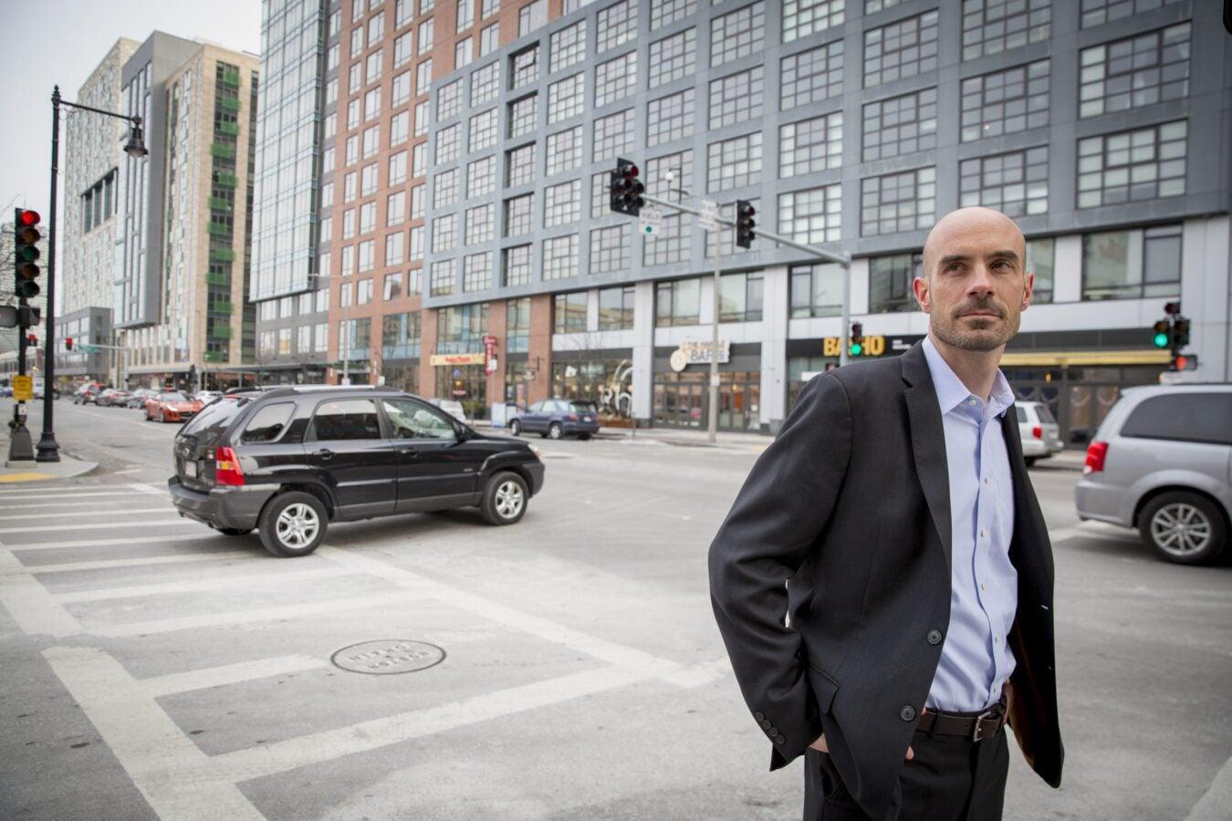 Joe Allen standing in the street