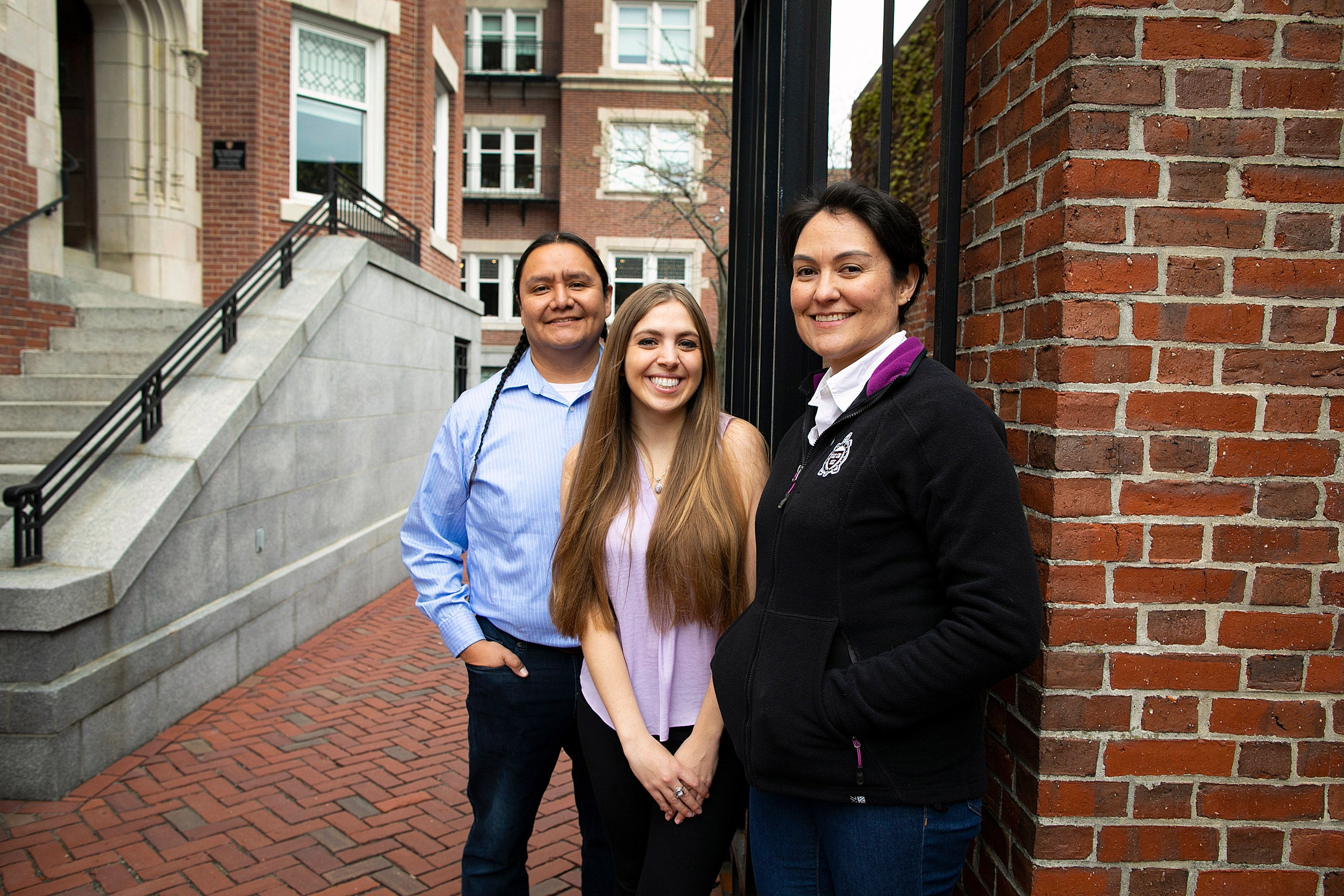 ason Packineau (from left), Sarah Sadlier, and Shelly Lowe.