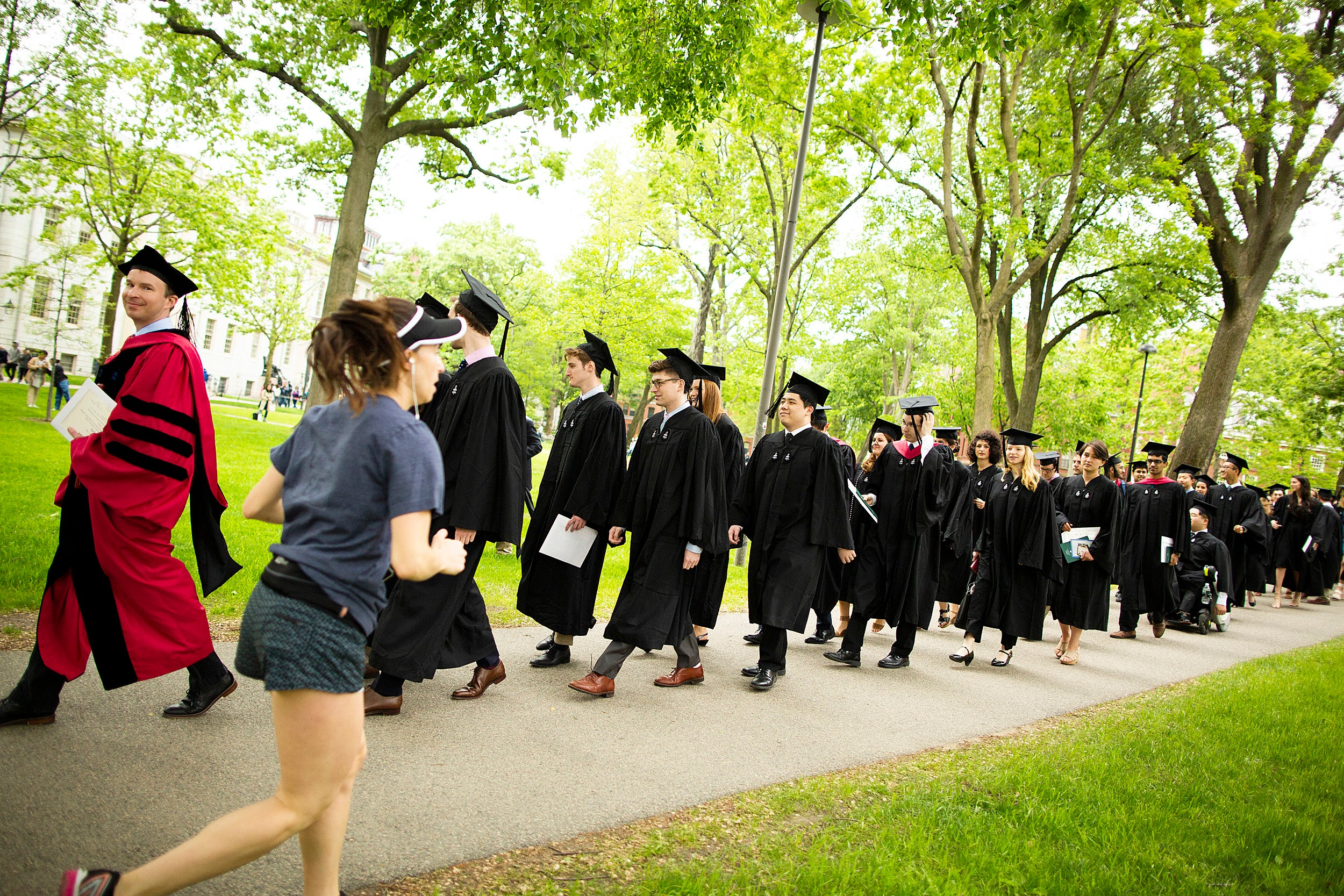 Students in a processional during Phi Beta Kappa Literary Exercises.