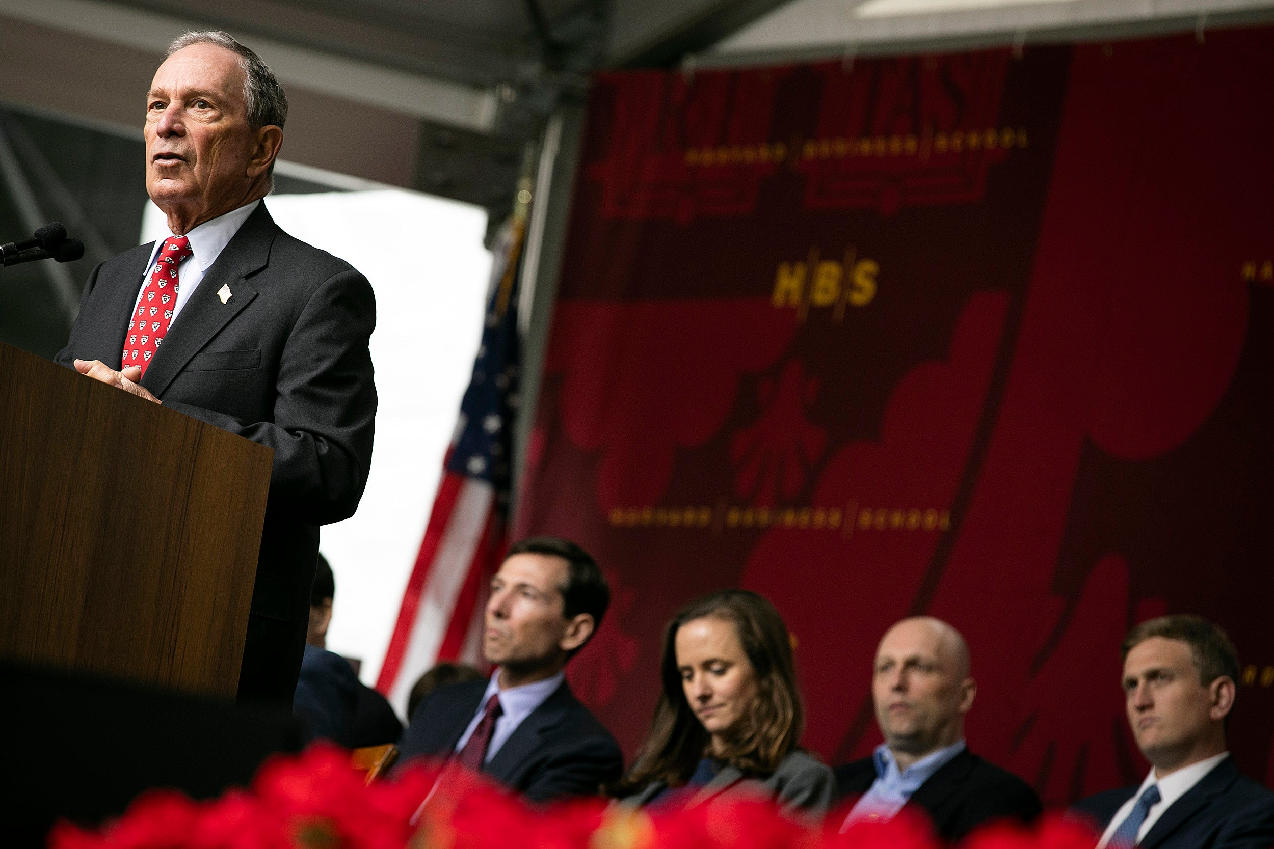 Michael R. Bloomberg speaks at Class Day at Harvard Business School