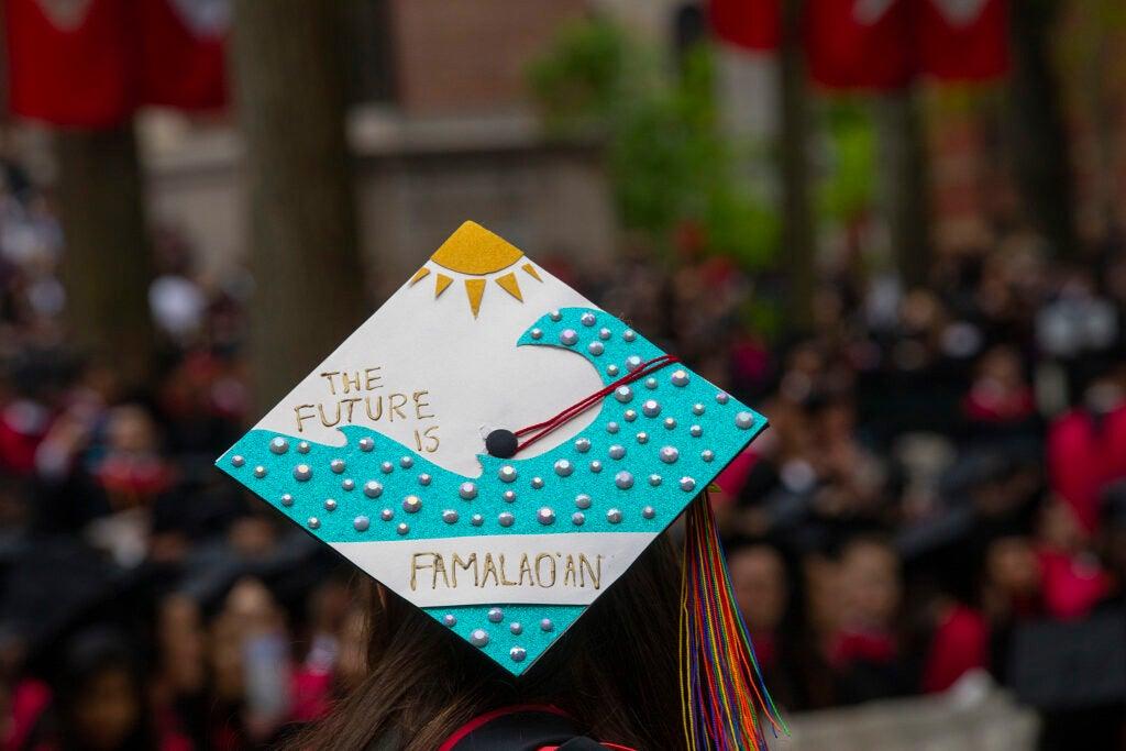 A decorated grad cap