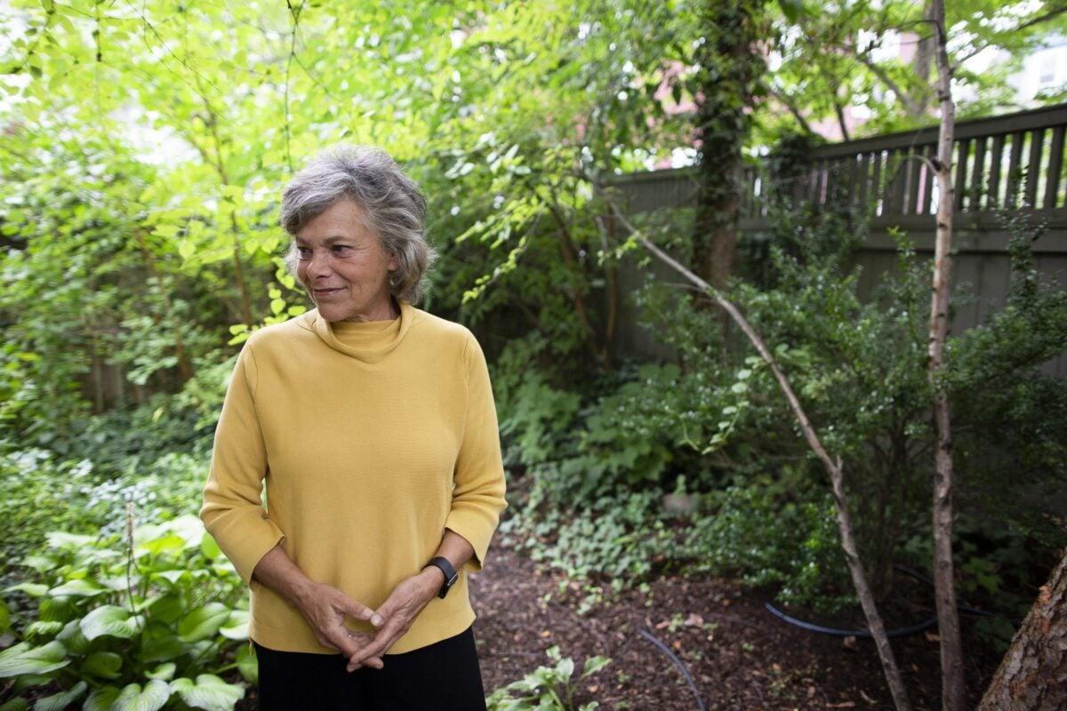 Langer in her garden