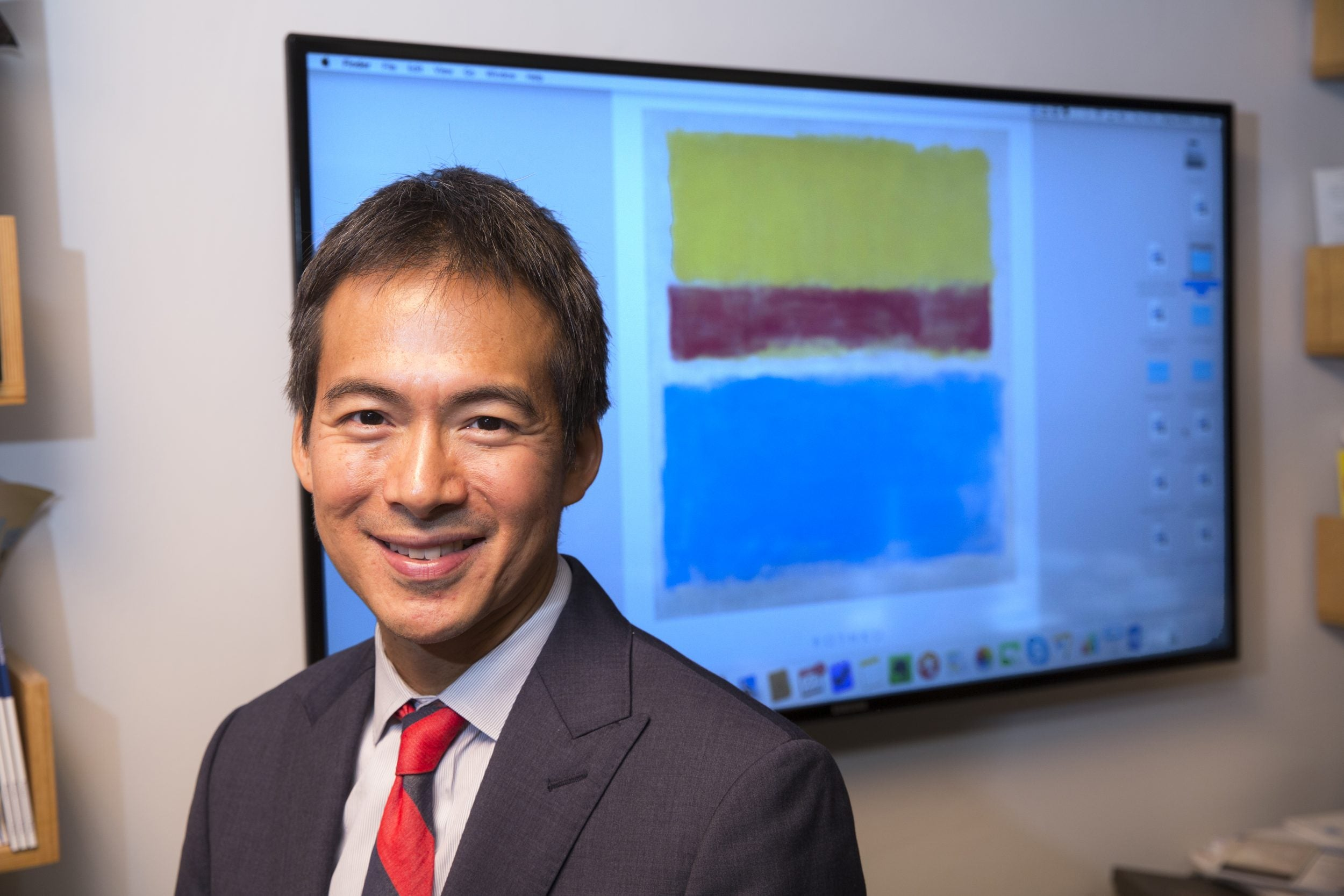 Fung in his office