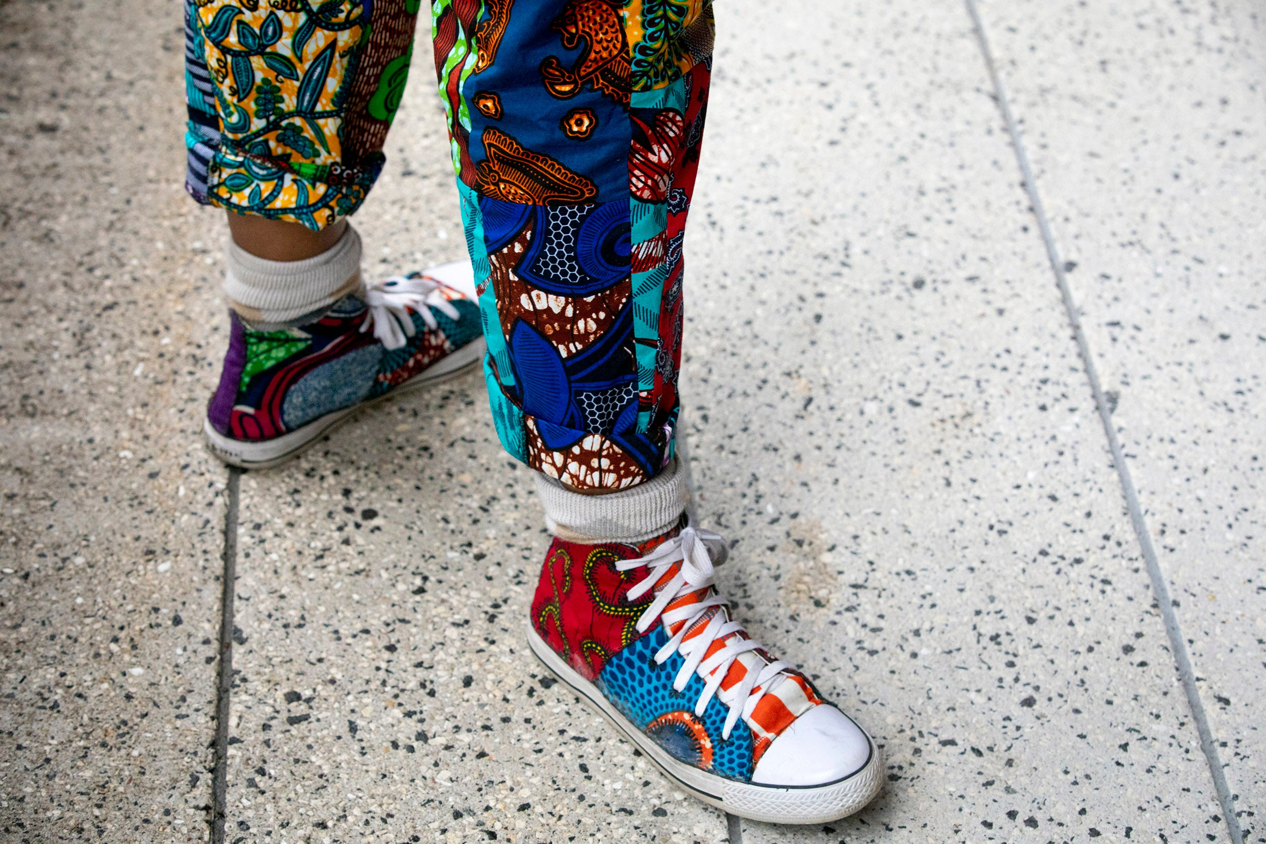Colorful shoes worn by Harvard Jazz Band guest.