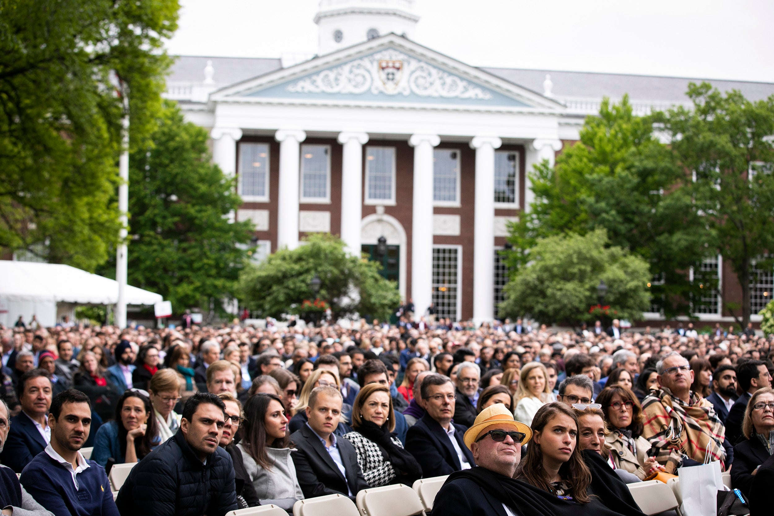 Audience listens during Class Day at Harvard Business School.