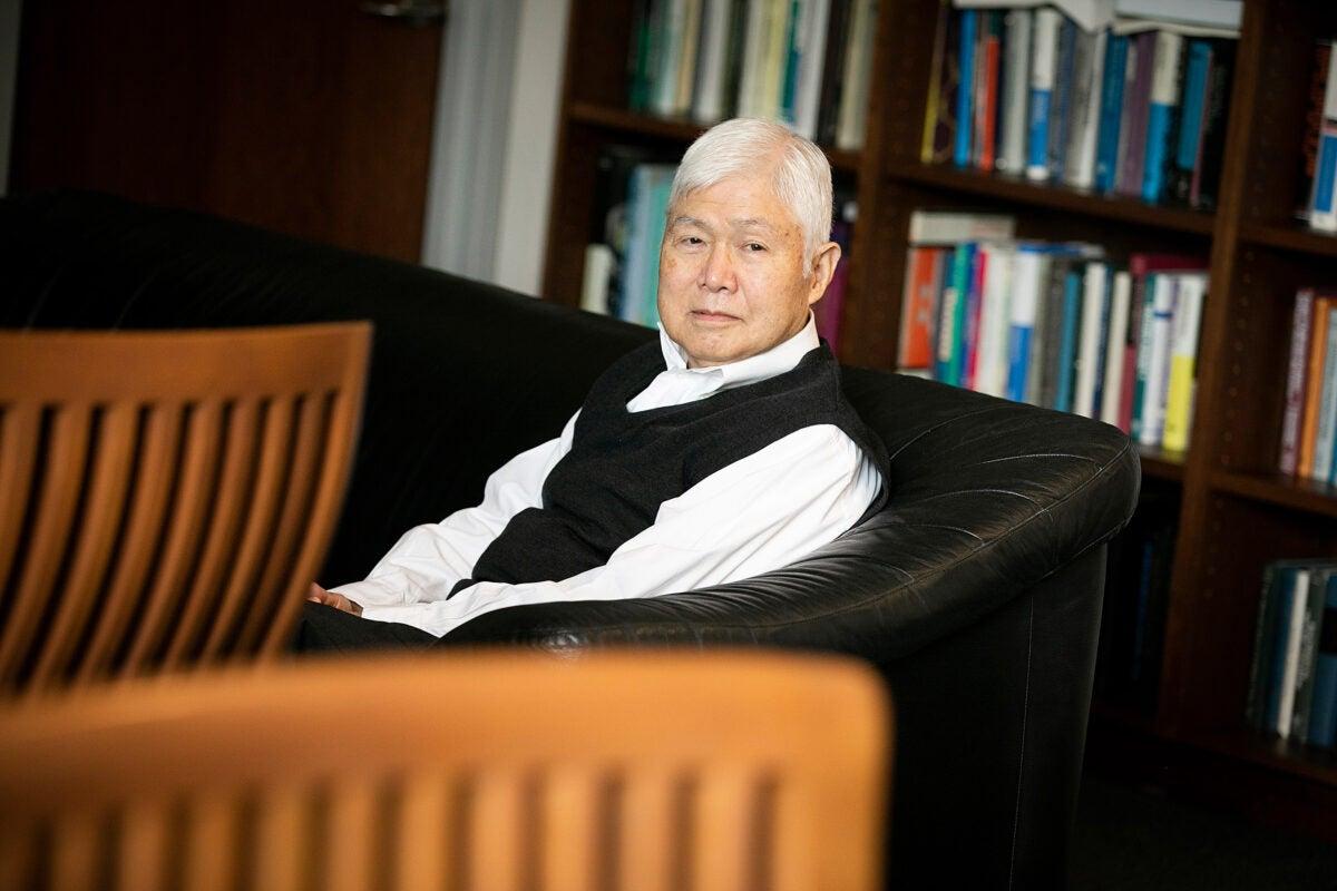 Yoshito Kishi sitting in his office