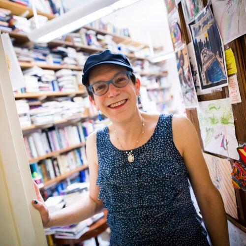 Stephanie Burt in her office