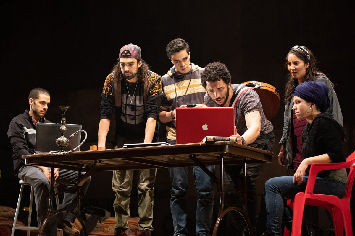 "The cast of ""We Live in Cairo"" performs"