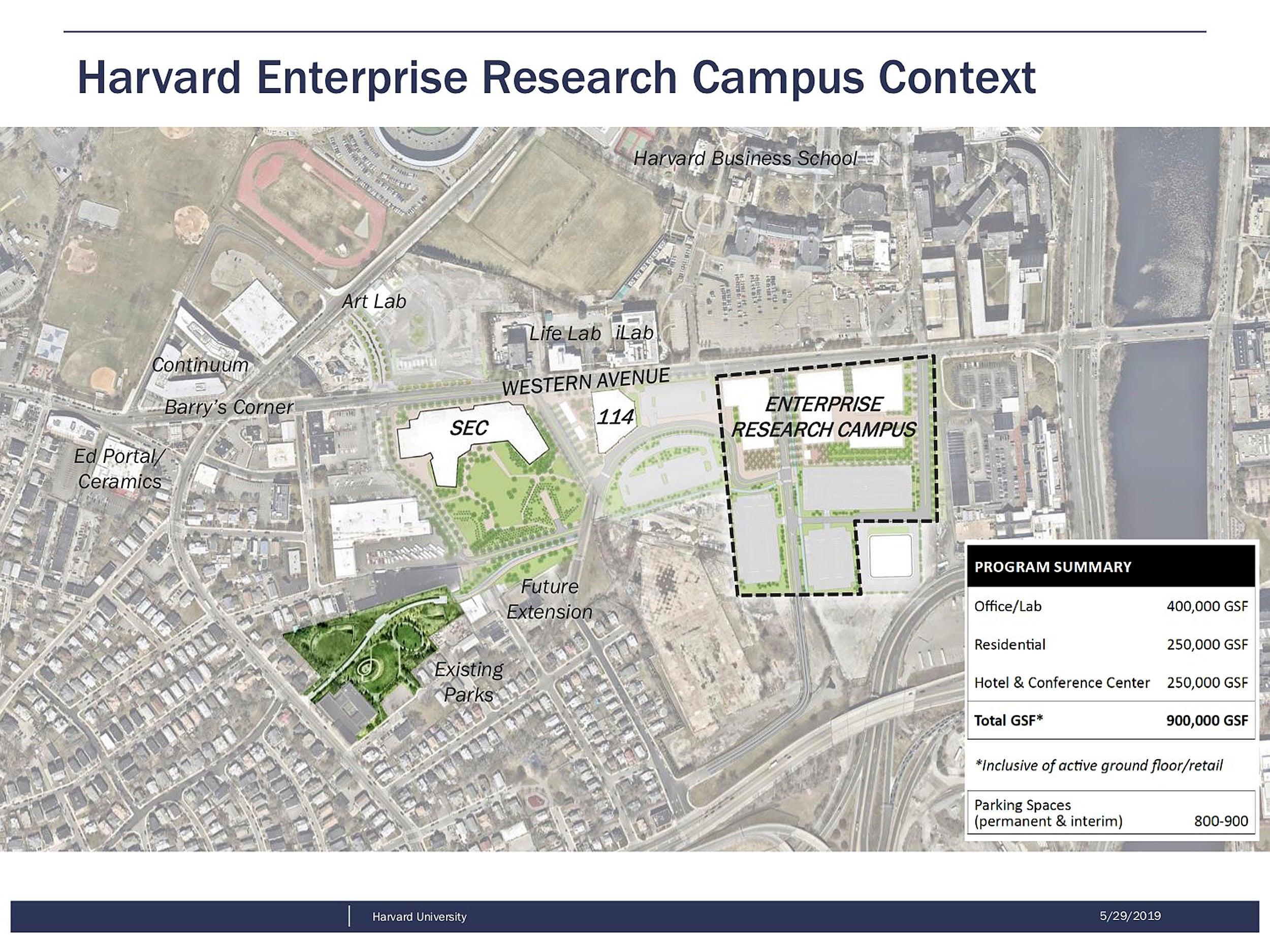 Map of Harvard's Allston campus