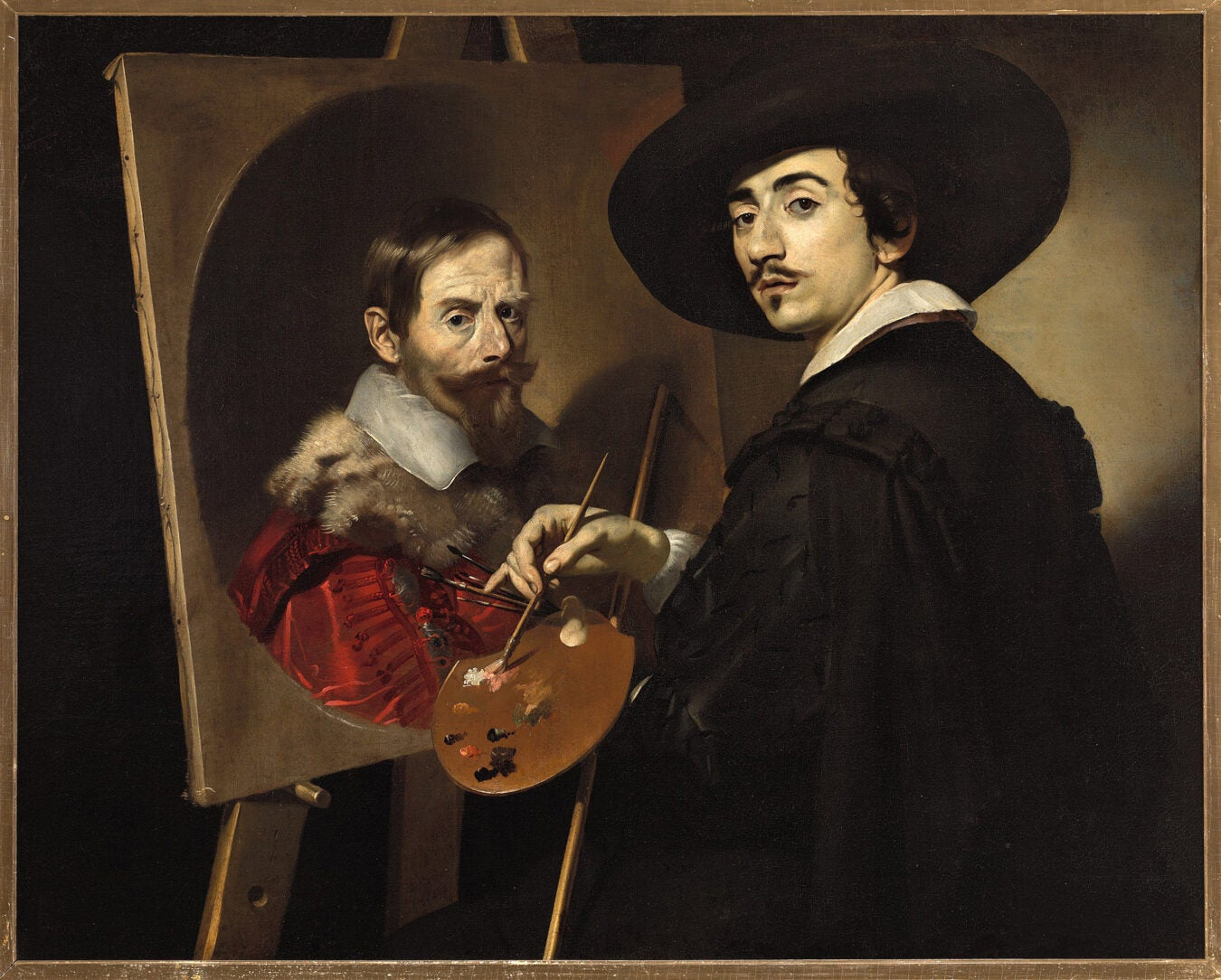 """""""Self-Portrait with an Easel,"""" Nicolas Régnier."""