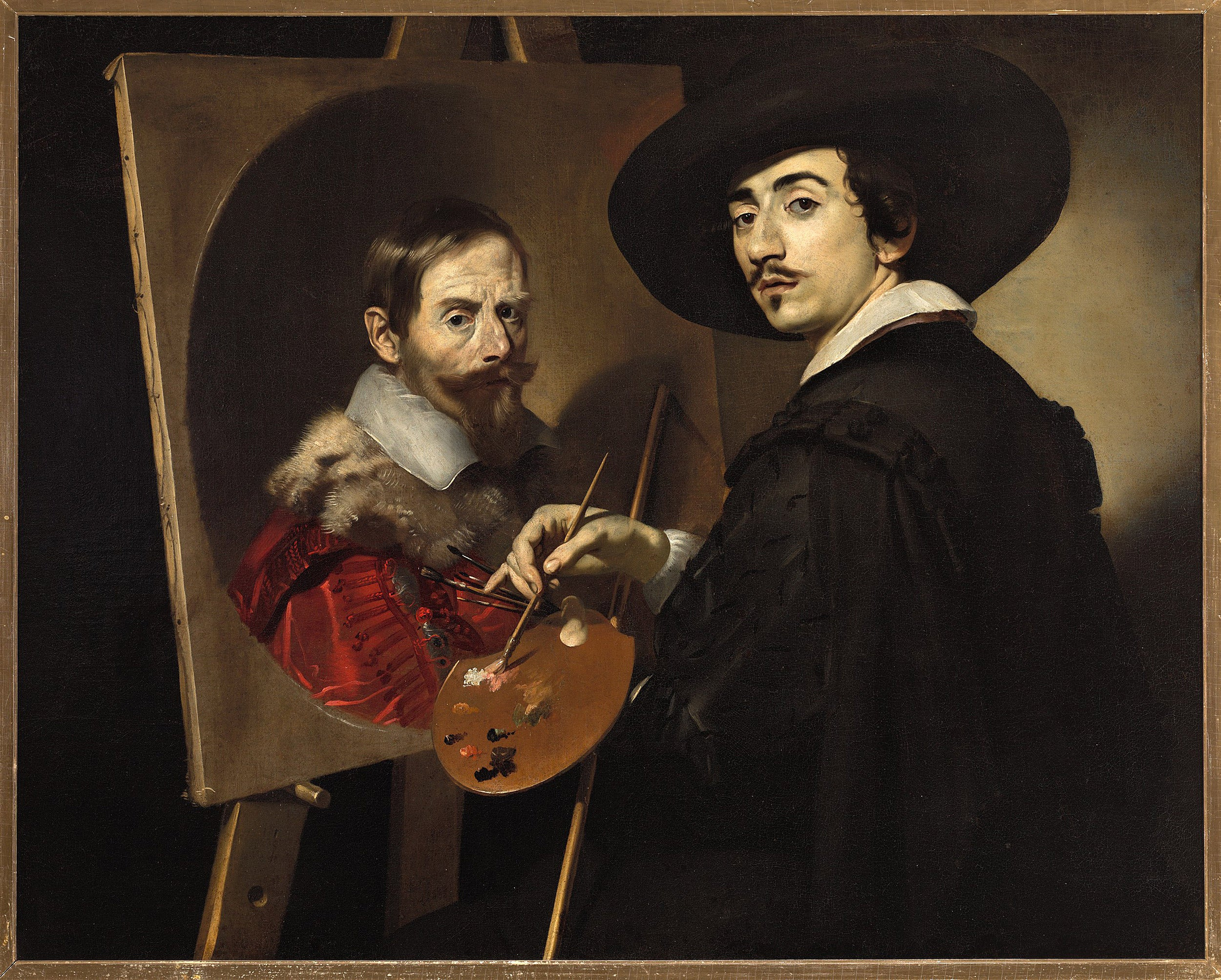 """Self-Portrait with an Easel,"" Nicolas Régnier."