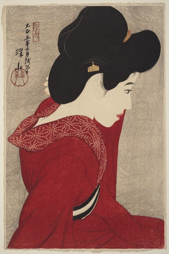 Japanese art portrait of a woman