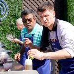Contestants cooking on Masterchef