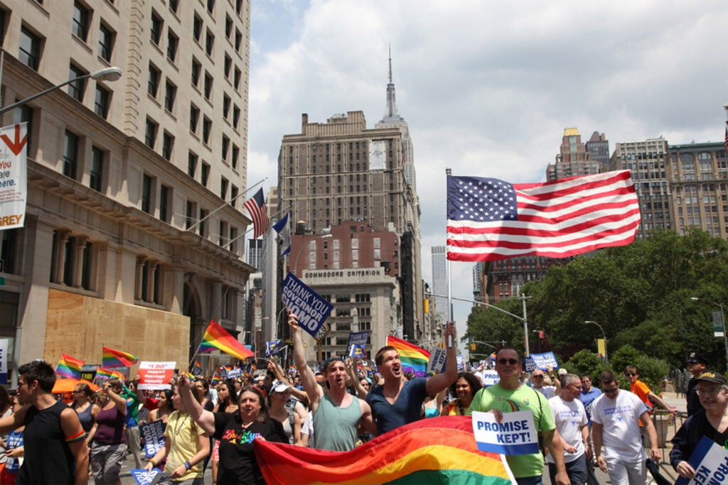 The 2011 New York City Pride March honored the legalization of same-sex marriage in New York that year.