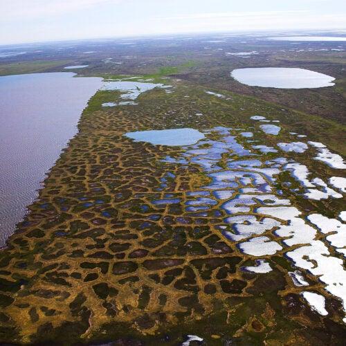 Aerial photo of Alaska