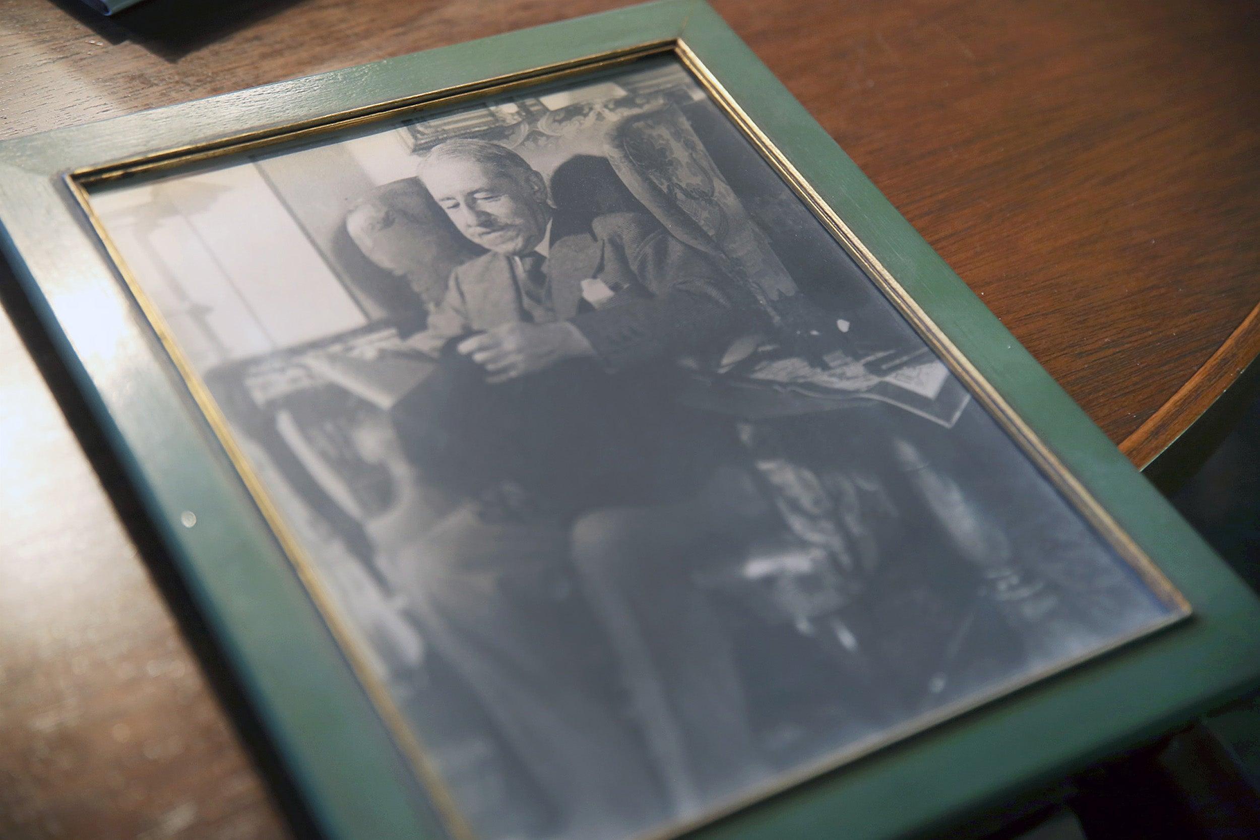 Photograph of Ellery Sedgwick, at Long Hill.
