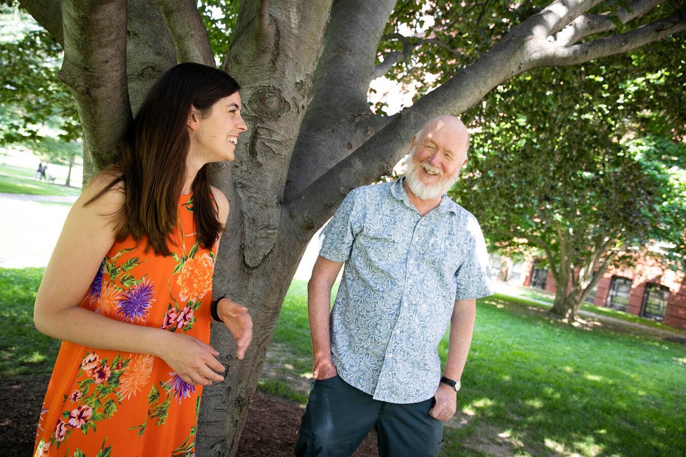 Dakota McCoy and David Haig.