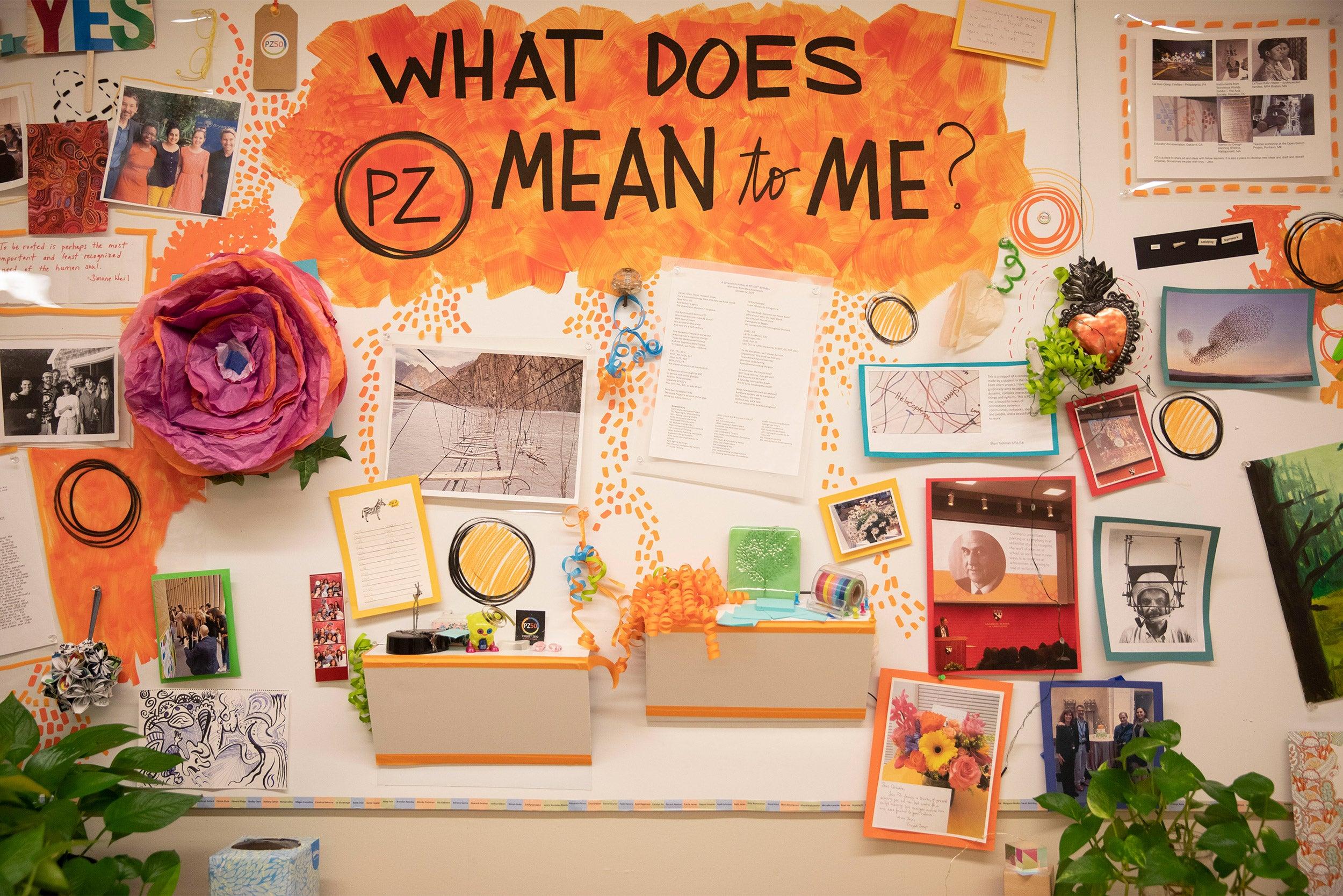 Bulletin board inside classroom