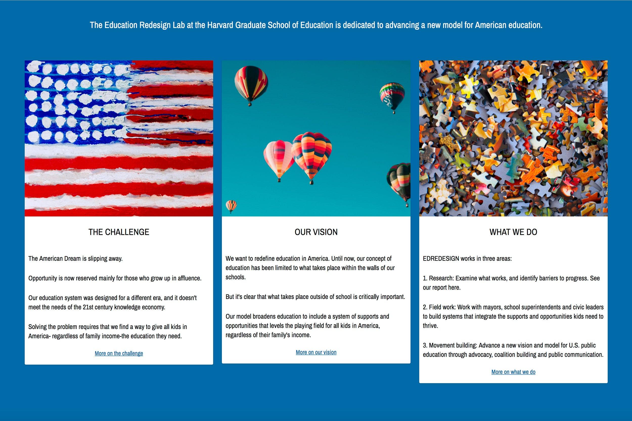 Website for EdRedesign