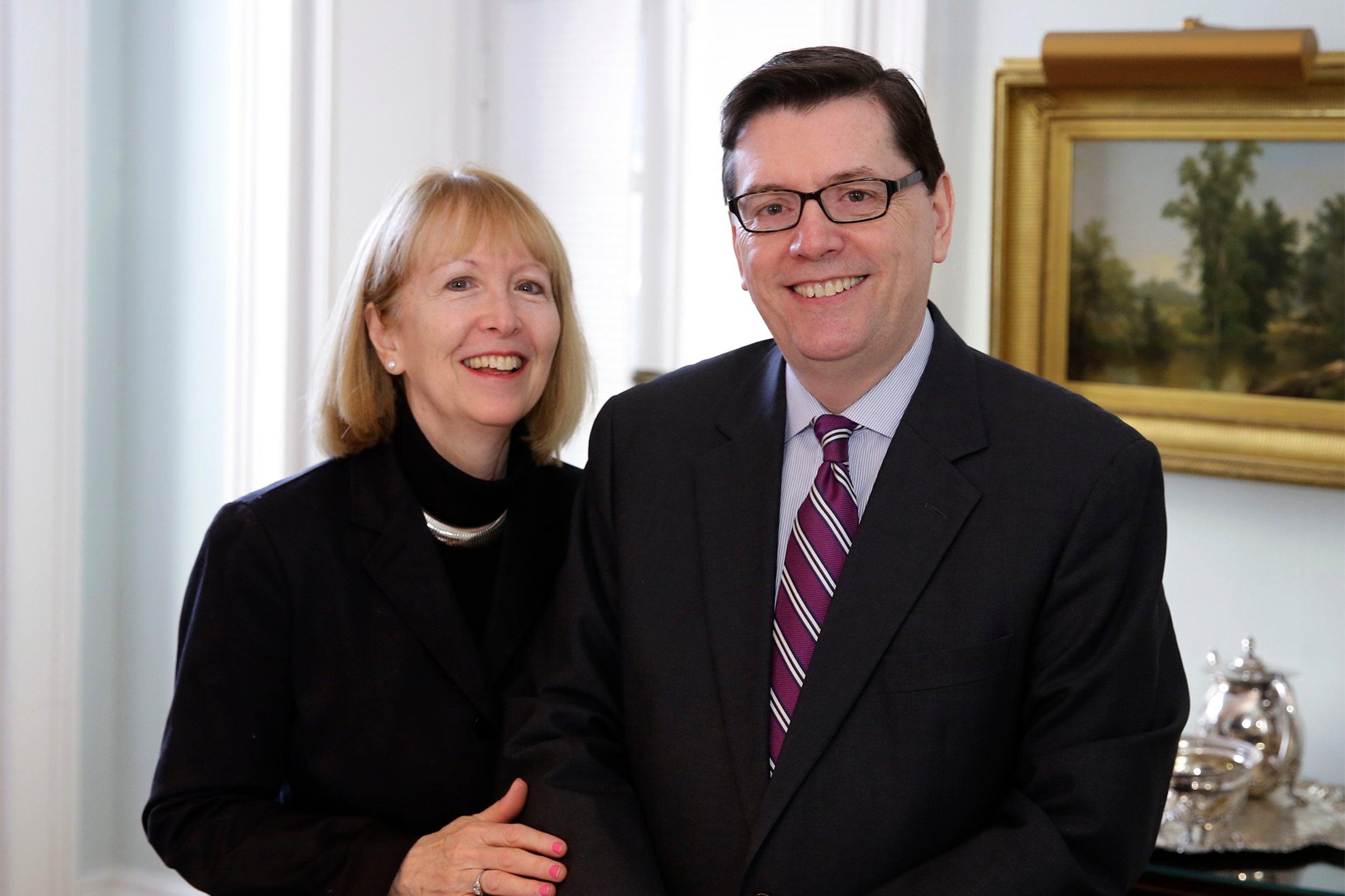 Mark Gearan and Mary Gearan