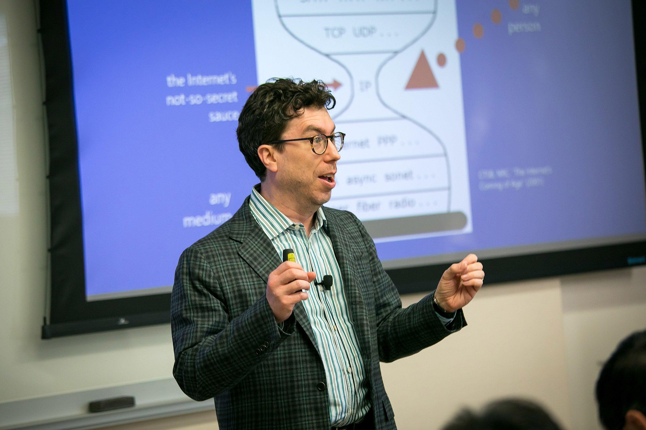 Jonathan Zittrain giving a presentation