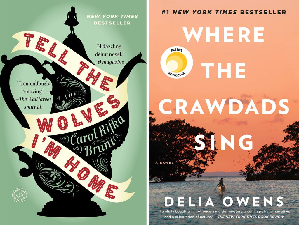 Tell the Wolves I'm Home and Where the Crawdads Sing book covers