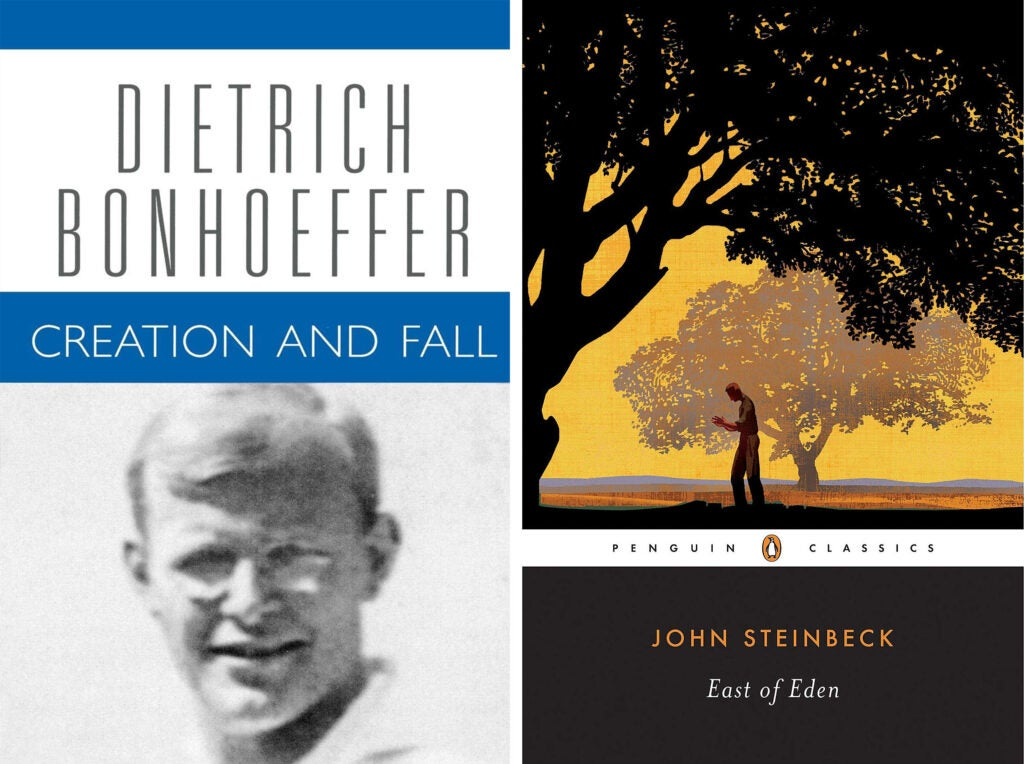 Creation and Fall and East of Eden book covers