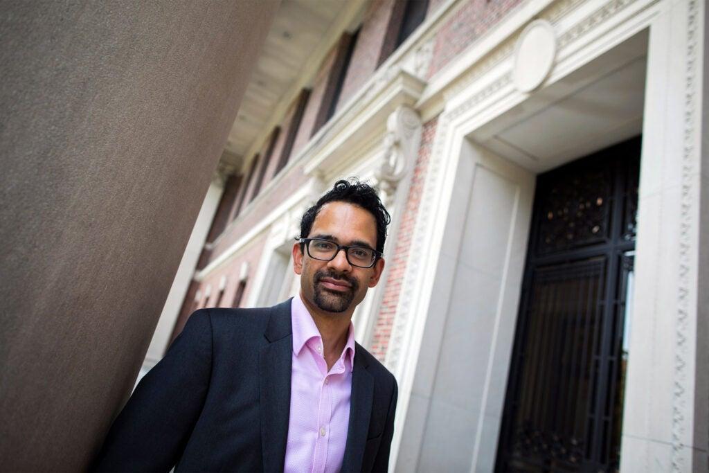 Sunil Amrith on Harvard campus.