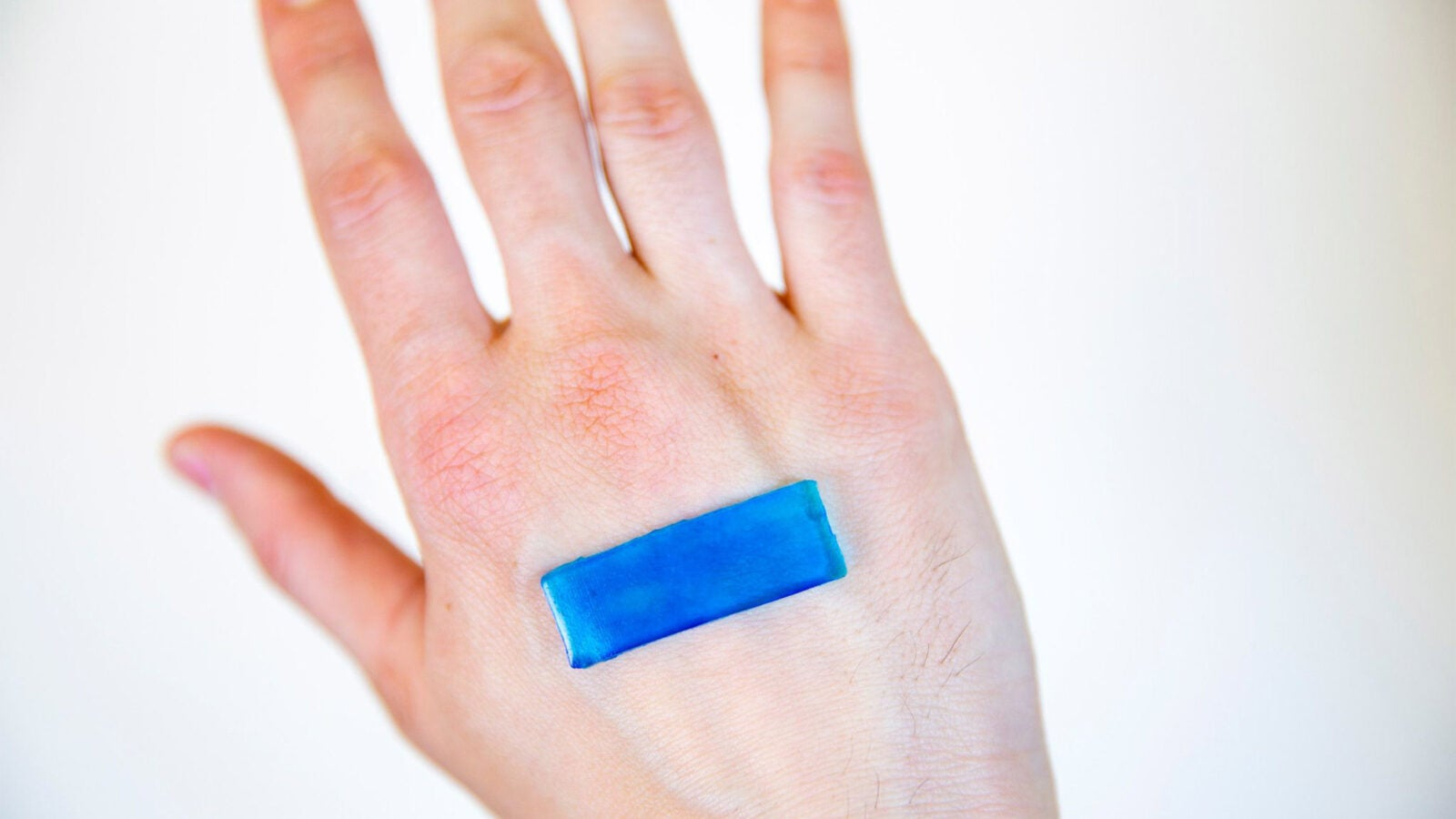 Hand with tough gel adhesive bandage