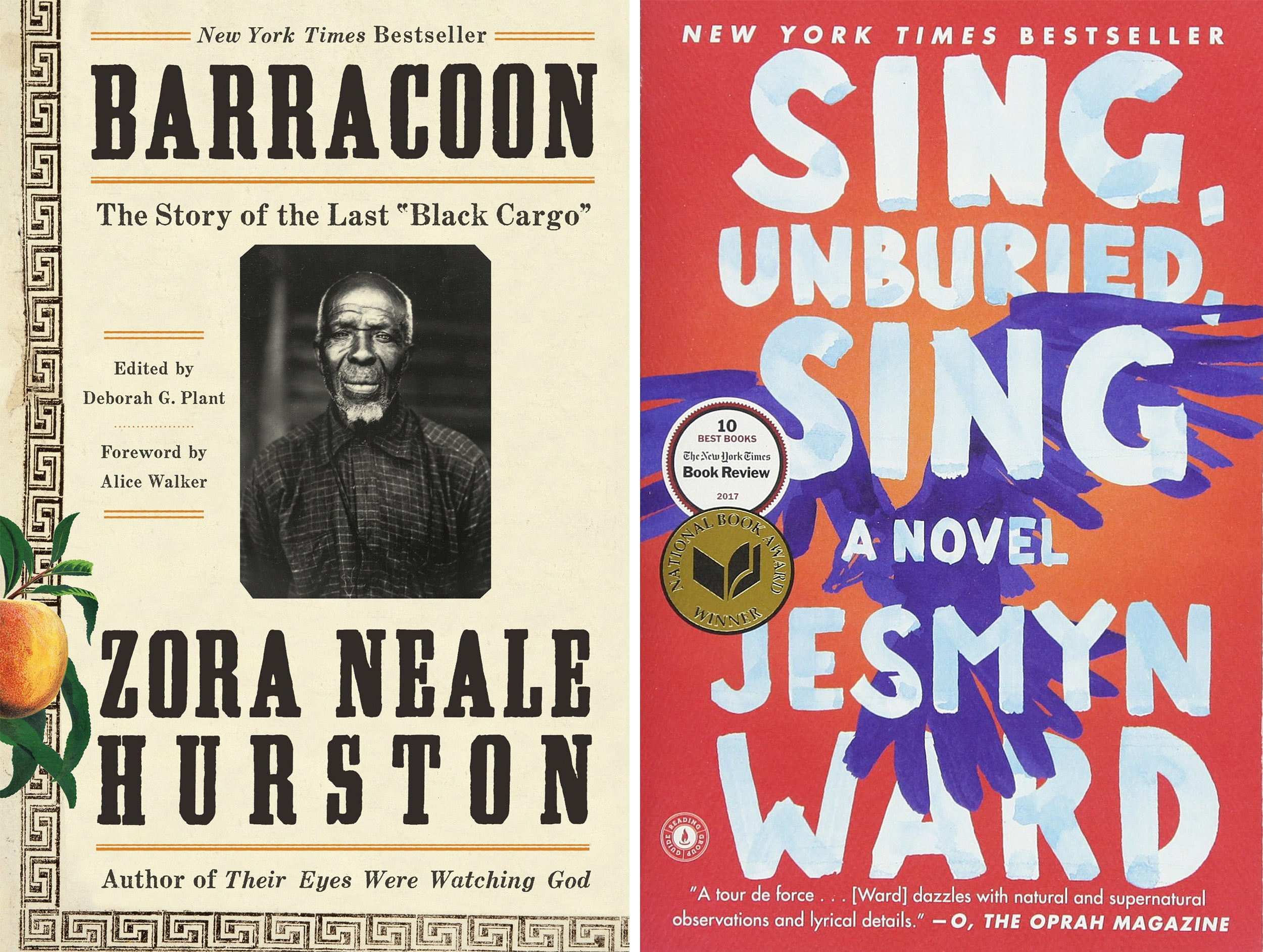 Barracoon and Sing, Unburied, Sing book covers