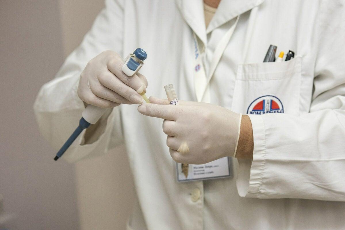 close up of lab coat