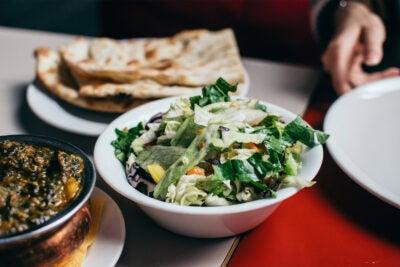 Plant-based food on table
