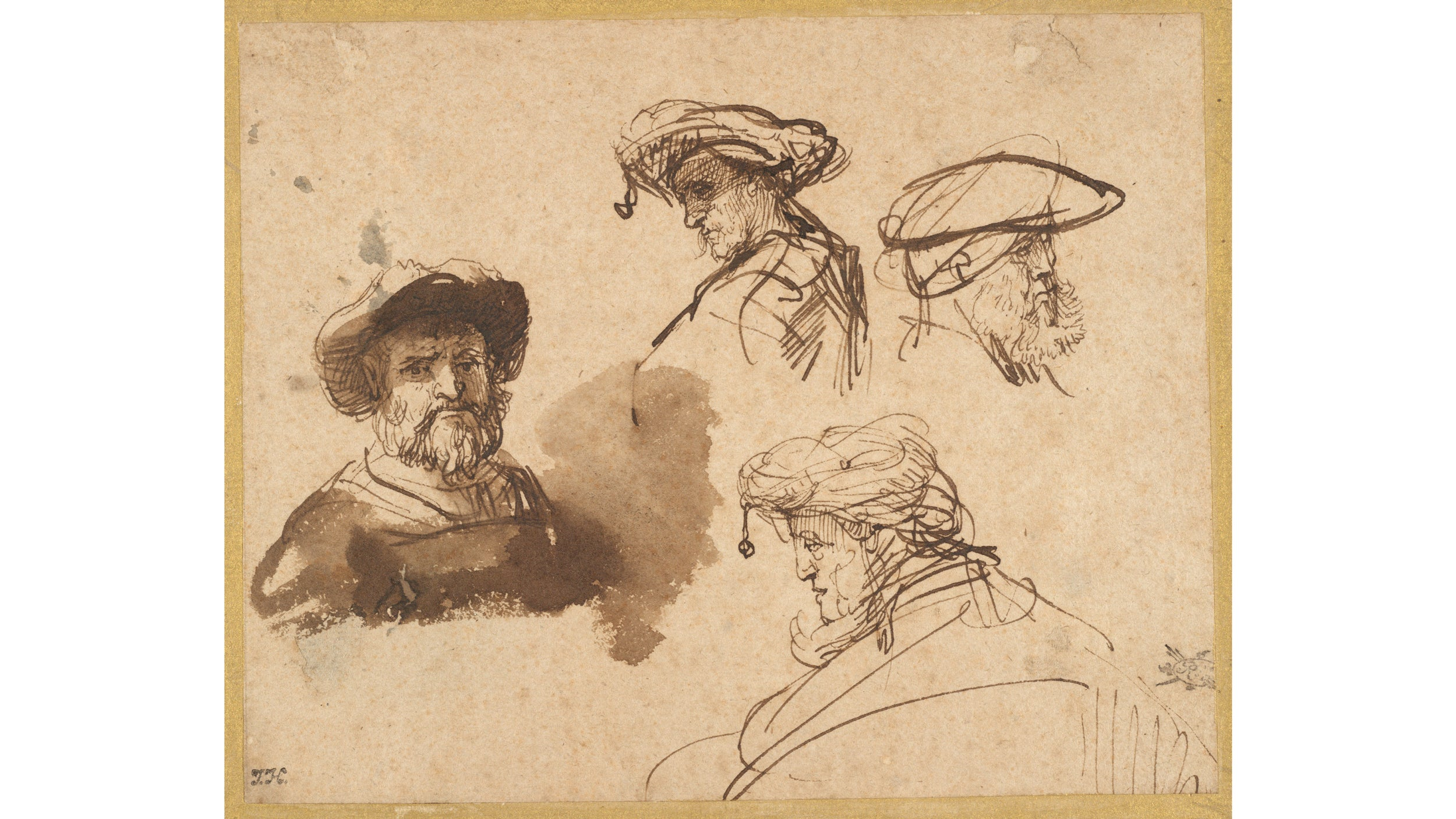 Four Studies of Male Heads,