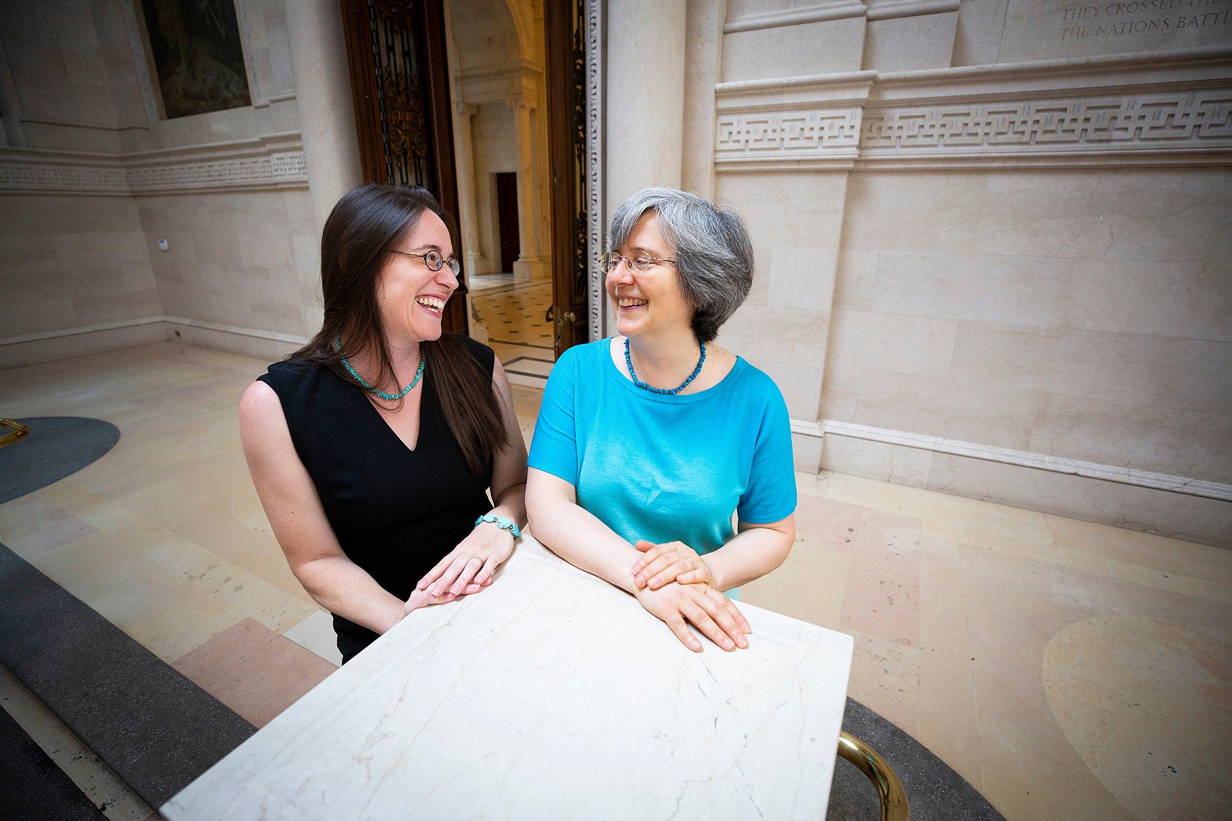 Leah Whittington (left) and Ann Blair