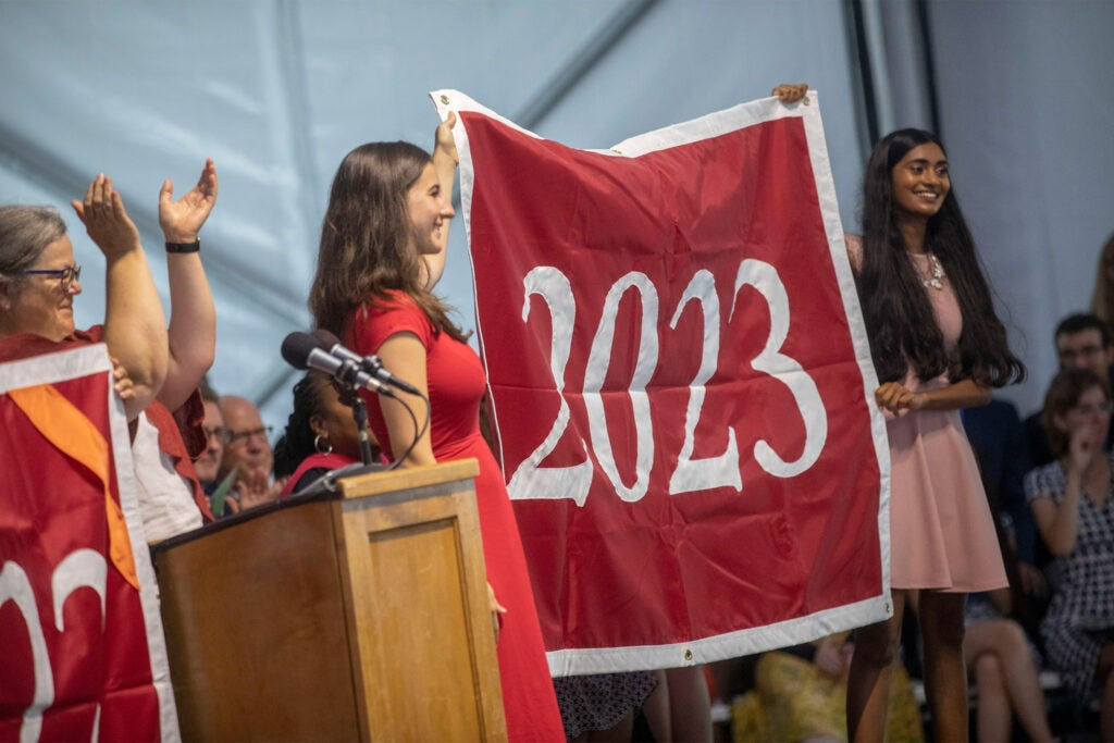 Presentation of the Class of 2023 banner