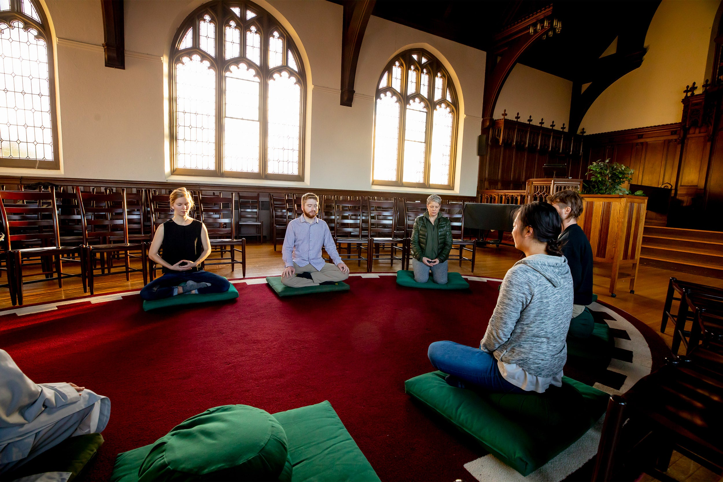 Meditation session at the Harvard Divinity School