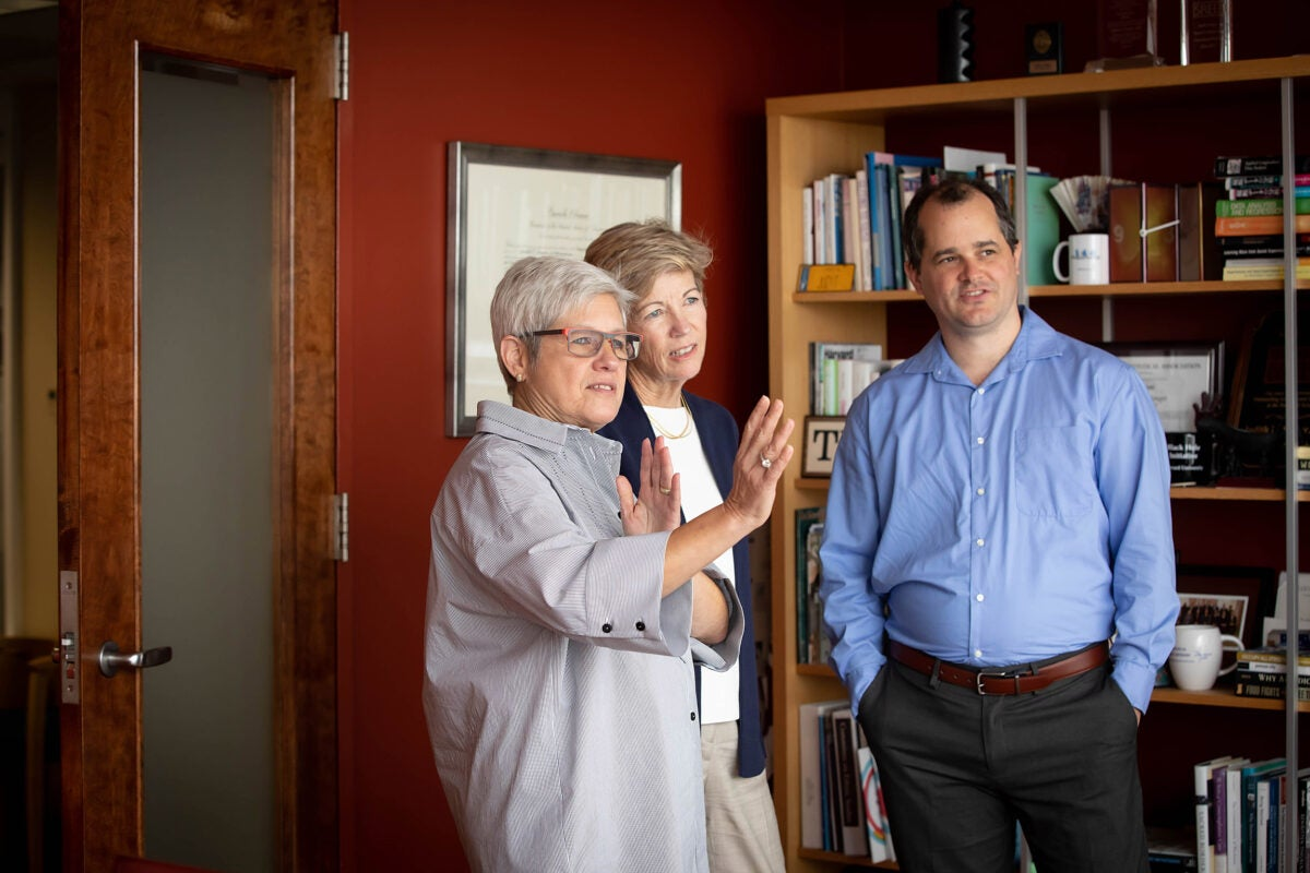 Judy Singer (from left), Anne Margulies, and Dustin Tingley