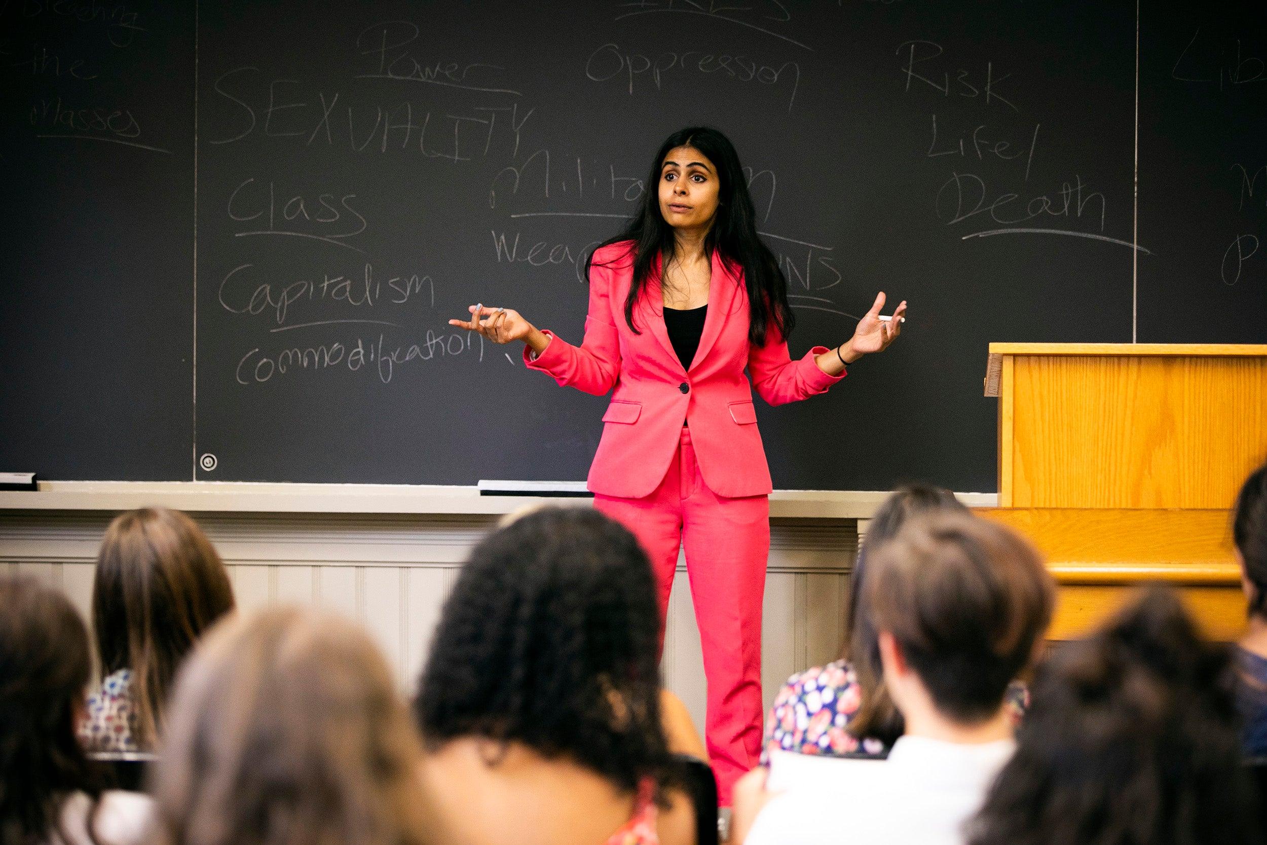 Durba Mitra teaches.